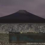 夜明けの富士山。